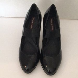 ADRIENNE VITTADINI SIZE 8M BLACK PATENT LEATHER 3""